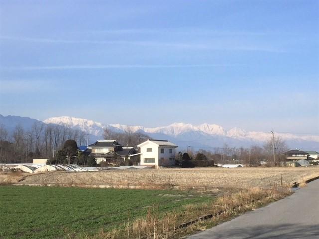 対象地からのアルプスの景観 H30.12撮影