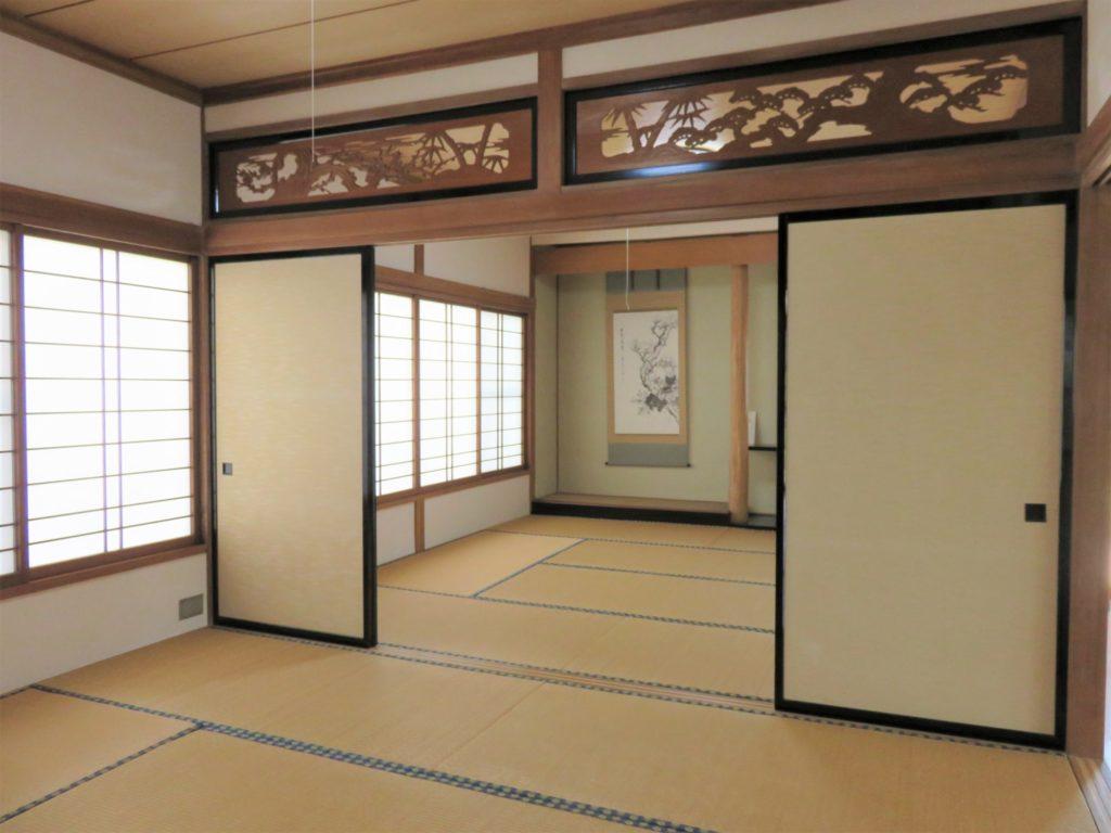 和室は続き間、広くご利用できます。 H30.10撮影