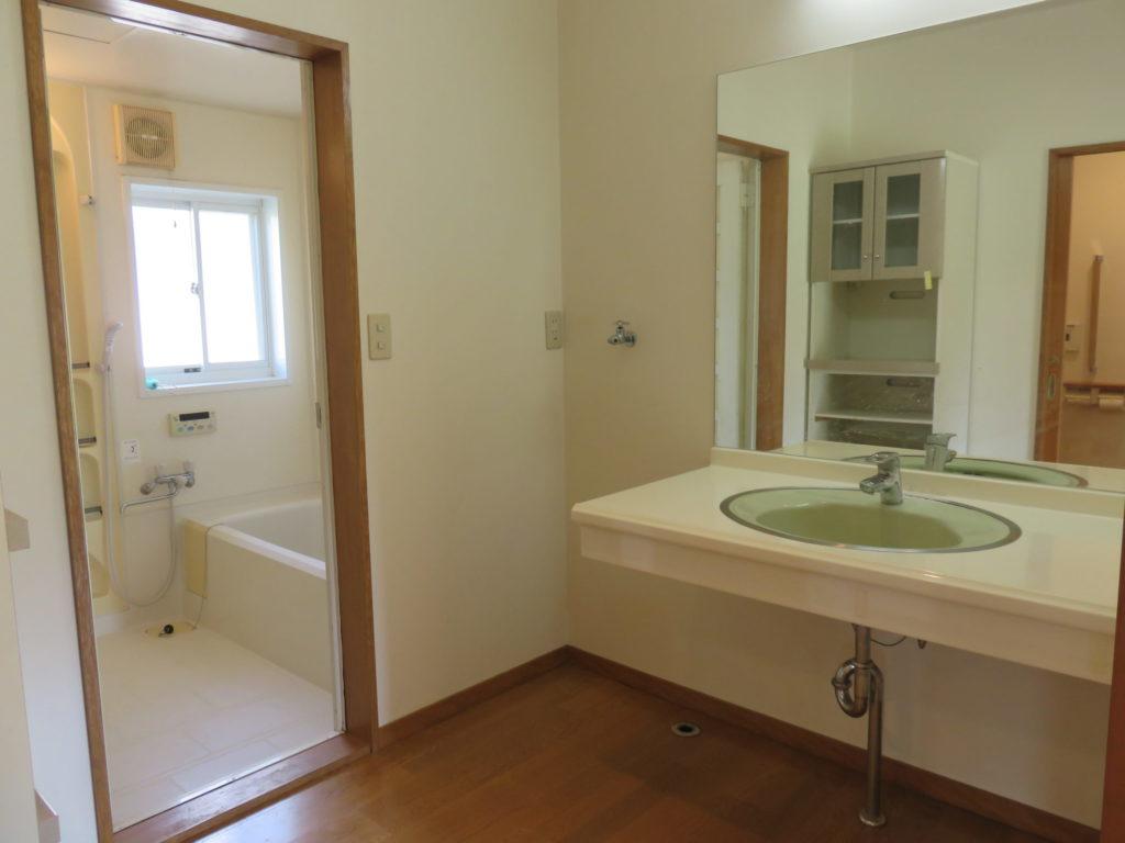 洗面台と洗濯機置場 H30.10撮影