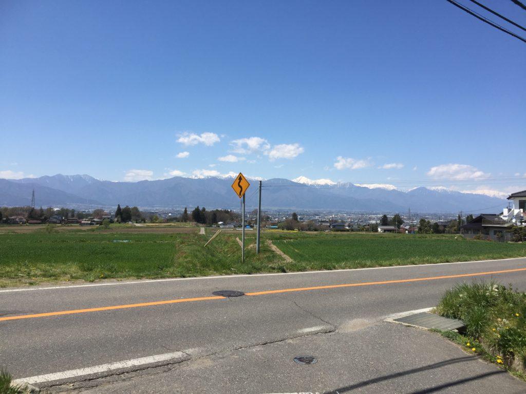 対象地からの眺望(アルプスの山々)ℍ29.4.28撮影